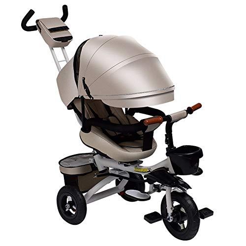 GSDZSY - 3 IN 1 Dreirad Kinderdreirad Für Kinder, Drehbarer Sitz Und Verstellbare Rückenlehne, Bequemer Großer Sitz, Baby Kann Flach Sitzen Oder Liegen, 6 Monate Bis 6 Jahre