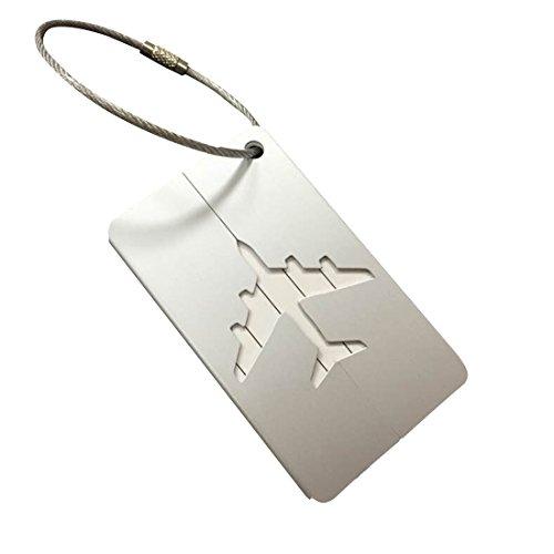 Aluminio Metal bolsa maleta equipaje ID etiquetas etiquetas plateado P