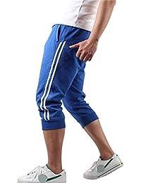61e7d78833ef3f Hooleeger 3 4 Hose Herren Jogginghose Trainingshose Oversize Sporthose  Capri Hose