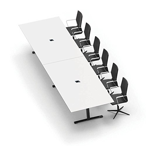 Weber Büro JAZZ Konferenztisch 320 x 120 cm Weiß Besprechungstisch Meetingtisch Tisch,...