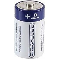 PRO-ELEC Batterie Alcaline D / Blister Pacchetto di Due/2 / Garantito All'ultimo / Controlli, Torce, e Altro Ancora / Qualità Premium