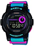 Baby-G BGD-180-2ER Women's Quartz Watch with Black Dial - Digital Display and Blue Resin Strap
