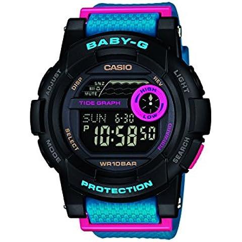 Casio  Baby-G - Reloj de cuarzo para mujer, con correa de plástico, color azul