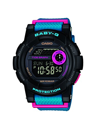 Casio Uhren Baby-g Damen (Casio Damen-Armbanduhr Baby G Digital Resin BGD-180-2ER)