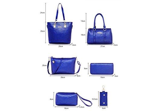X&L 2016 Handtasche Mode sechs ein-Schulter Handtasche Tasche Umhängetaschen Black