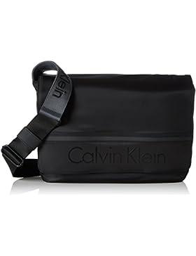 Calvin Klein Matthew Messenger Bag With Flap - Black