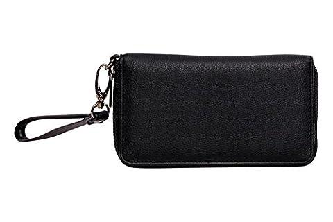Cerbery®   Eleganter Geldbeutel aus Leder   Abendtasche Brieftasche Case Clutch Cover Damen Damenhandtasche Damentasche Etui Geldbörse Handtasche Hülle Münzfach Portemonnaie Tasche