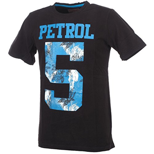 PETROL INDUSTRIES -  T-shirt - Uomo Grigio antracite scuro Large