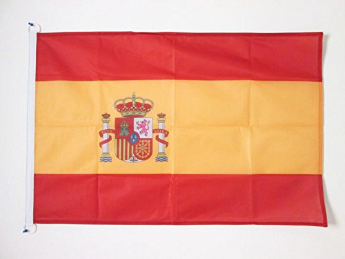 AZ FLAG Bandera de ESPAÑA 90x60cm Uso Exterior - Bandera ESPAÑOLA 60 x 90 cm Anillos