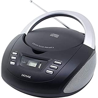 Denver TCU-211 Portable CD Player Boombox Stereo with USB, FM Radio and MP3 Support