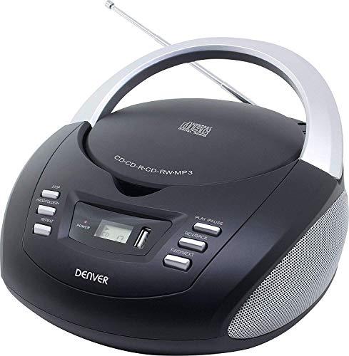 Oferta de Denver TCU-211BLACK Reproductor de CD y Radio FM - Reproducción de MP3 a través de USB/CD