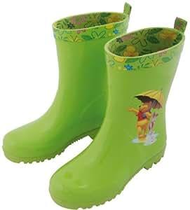 Esschert Design Kindergummistiefel Gr. 32 Winnie the Pooh, Regenstiefel, Outdoorstiefel, grün, mit Disney Motiv