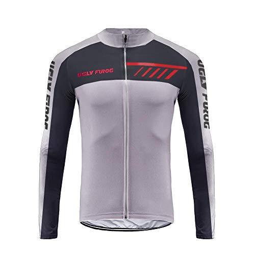 Uglyfrog Nuovo Abbigliamento Sportivo da Ciclismo, Maglia a Maniche Lunghe, Invernale Termica ZRMX08