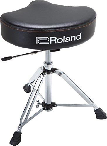 Roland Drum-Hocker-Sattel mit strapazierfähigem Vinyl-Sitz und hydraulischer Höhenanpassung - RDT-SHV