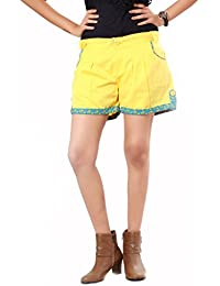 100% Cotton Slim Fit Non stretchable Womens Womens Princess Hot Shorts by Uber Urban