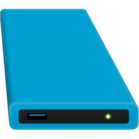 HipDisk BL 250GB SSD Externe Festplatte (6,4 cm (2,5 Zoll), USB 3.0) tragbare portable mit austauschbarer Silikon-Schutzhülle stoßfest wasserabweisend