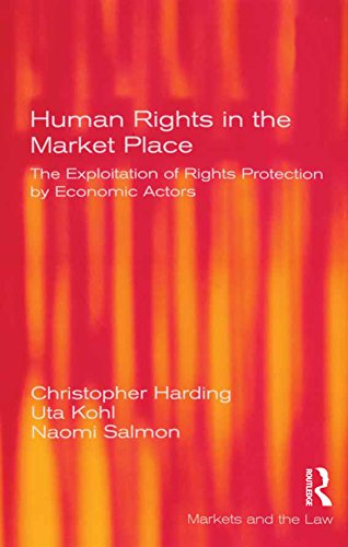 Human Rights in the Market Place: The Exploitation of Rights Protection by Economic Actors (Markets and the Law) (English Edition)
