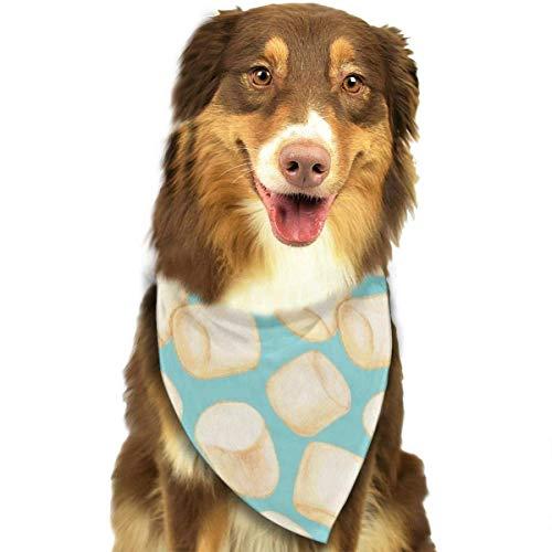 zhangzhenlu Hund Bandana Schal Marshmallows Blue Triangle Lätzchen Druck Halstuch Set Zubehör Hunde Katzen Haustiere