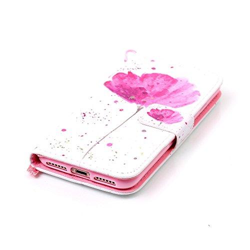 Coque pour iPhone 7 Plus / Pro,Housse en cuir pour iPhone 7 Plus / Pro,Ecoway Colorful imprimé étui en cuir PU Cuir Flip Magnétique Portefeuille Etui Housse de Protection Coque Étui Case Cover avec St YB-32