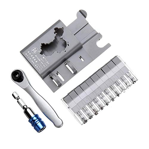 Raitool Portable Mini Ratchet Screwdriver Muti-tool Ratchet Precision Screwdriver - Blue