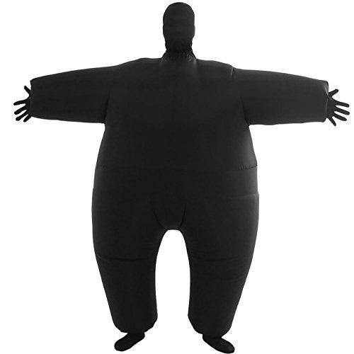 Aufblasbare Für Kostüm Schwarz Erwachsene - THEE Aufblasbares Kostüm Japan Sumo für Halloween Karneval Fastnacht Fasching Erwachsene Fett Anzug,Schwarz