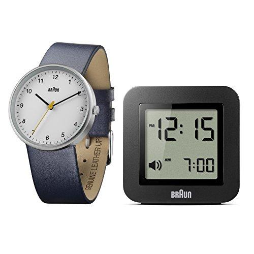 Braun Herren Uhren-Geschenkset Analog Leder - BN0231WHBL/BNC018BK