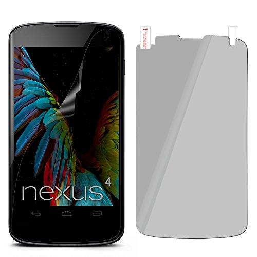 moex LG Google Nexus 4 | Spiegelfolie Display Schutz verspiegelt [Mirror] Screen Protector Handy-Folie Displayschutz-Folie für LG Google Nexus 4 Schutzfolie vorne Spiegel