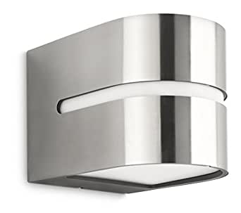 Philips luminaire ext rieur applique murale hazel inox for Applique murale exterieur amazon