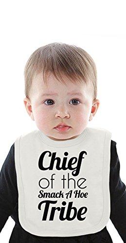chief-of-the-smack-a-hoe-tribe-funny-slogan-organic-bib-with-ties-medium