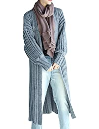 ELLAZHU Femme Pullover Décontracté Douce Col-V Manche Longue Tricot Cardigan GA538