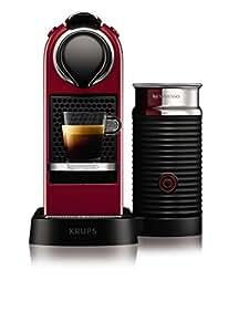 Krups yy2730fd nespresso citiz mousseur lait rouge - Nespresso inissia blanche ...