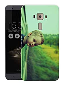 "Ulta Anda Boy In Train Printed Designer Mobile Back Cover For ""Asus Zenfone 3 Ze552kl"" (3D, Matte Finish, Premium Quality, Protective Snap On Slim Hard Phone Case, Multi Color)"