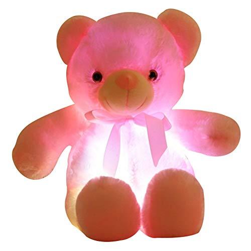 Gelentea - Oso de Peluche con luz LED, Color Azul,...