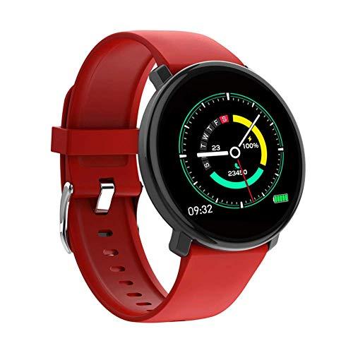 ZLLZ Intelligentes Armband, wasserdichte Sportuhr der Vollbild-Notenherzfrequenz-Blutdruckschlafüberwachung, intelligente Uhr des Eignungsdetektors, verwendbar für Männer und Frauen-red - Training-bewegung Apple Pro