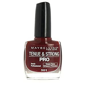 Vernis à Ongles - Tenue & Strong Pro - N°501 Rouge Laqué - Gemey Maybelline