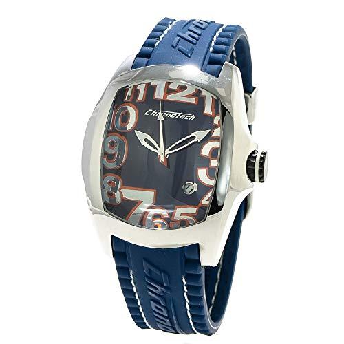 Chronotech orologio analogico quarzo uomo con cinturino in gomma ct7016m-03