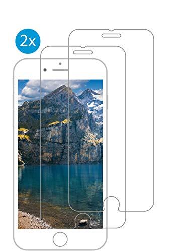 PhoneEquip [2 Stück] Panzerglas Displayschutzfolie für iPhone 6/6S/7/8, 1-2 Tage Lieferzeit, 9H Härtegrad, 0.3 mm Dicke, kratzresistent