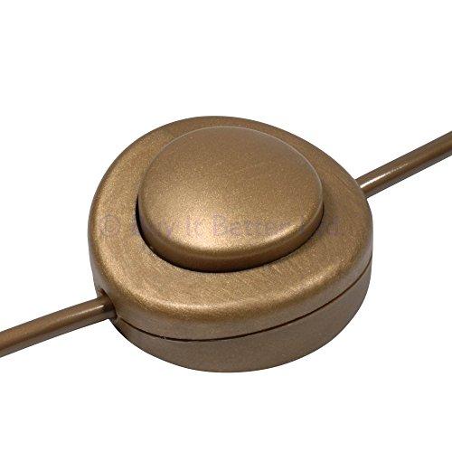 InLine-Fuß Drücken Schalter für Stehlampe für 2oder 3Core Flex-Gold-Größere 65mm Durchmesser -