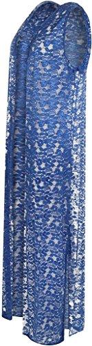 Islander Fashions - Gilet - Femme Bleu Marine