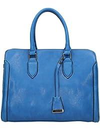 California Étiquette en imitation cuir pour femme Motif Day Sac à main Bleu -- SwankySwans