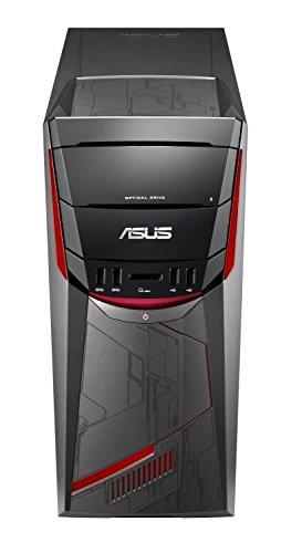 Asus 90PD02E1-M05190 Unité Centrale Noir/Rouge (AMD, 8 Go de RAM, 1 to, Nvidia GeForce GTX1050 avec 2 Go GDDR5, Windows 10) Clavier AZERTY français