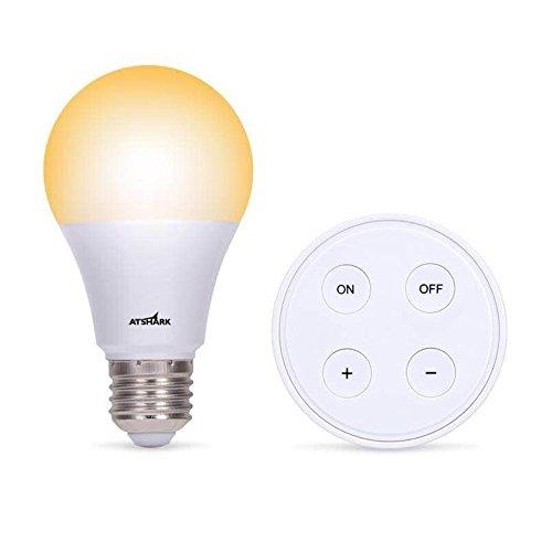Kit Ampoule LED E27 Dimmable - Lampe Led Variateur 10W Blanc chaud/Blanc froid/Blanc naturel - Ampoules de Scène Ambiance avec Télécommande Sans Fil Autonomie 10 Ans, Couleur et Luminosité Réglable