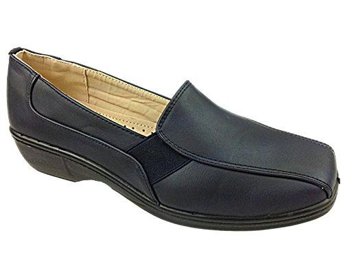 Womens Cushion Walk Linda Casual Slip On Shoe (6, Navy)