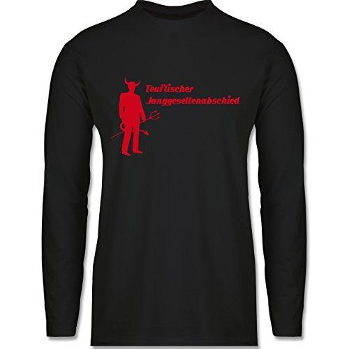 JGA Junggesellenabschied - Teuflischer Junggesellenabschied - Longsleeve / langärmeliges T-Shirt für Herren Schwarz