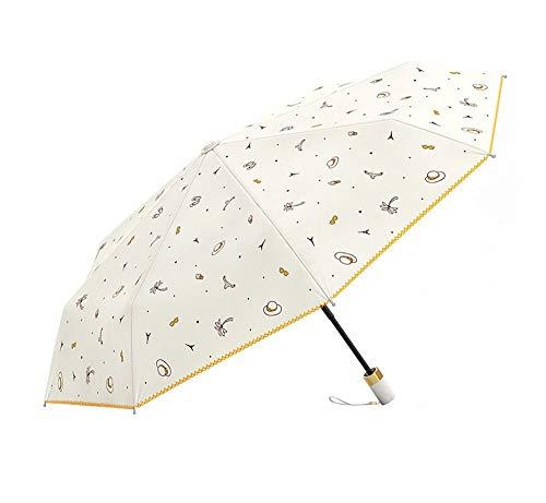 Falten Drei-tasten-anzug (Screenes Leichte Kompakte Reise Regenschirm Falten Ms Doppelte Person DREI Falten Einfacher Stil Regenschirm Windproof Anti Uv Wasserdicht Regenschirme (Color : Colour, Size : One Size))