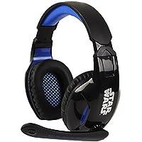 Indeca HS045 Binaurale Diadema Negro, Azul auricular con micrófono - Auriculares con micrófono (PC/Juegos, 0,03 W, Binaurale, Diadema, Negro, Azul, Alámbrico)