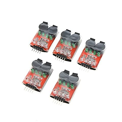 Kingzer 5Pcs Dual Speaker Low Voltage Buzzer BB annunciator w/LED