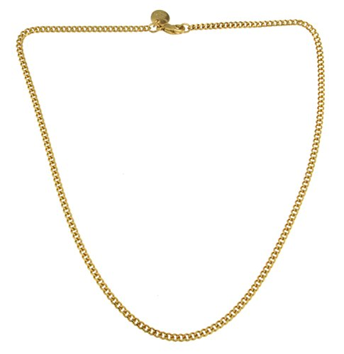 f92c56fba4cf Collar Cadena Gourmette 18k oro doublé 3 mm longitud 60 cm joyeria desde la  fábrica italiana