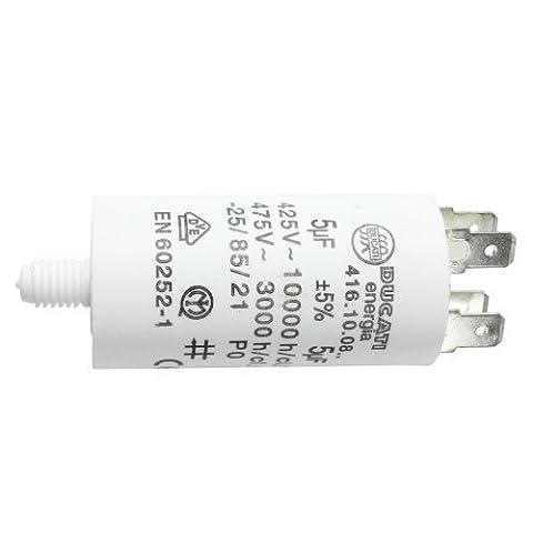 Condensateur First4spares Moteur Universel Microfarad 5UF à 80UF Connecteur Cosse / Etiquettes - 5 UF