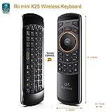 Rii Mini i25 (layout Español) - Mini Wireless teclado con ratón giroscópico y control remoto infrarrojos para Smart TV, Mini PC Android, PlayStation, Xbox, HTPC,IPTV, PC, Raspberry Pi,kodi,XBMC
